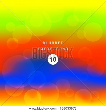 Bright colorful juicy green yellow red blue gradient color abstract background . Vector illustration blurred color blur gradient business graphic image soft ethereal backdrop template