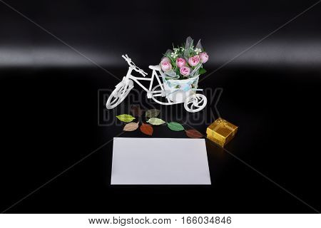 mockup objects isolated on black background with copy space front view