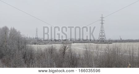 Cityscape in beginning of winter. View of Syktyvkar city.