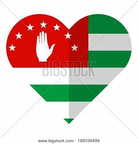 Abkhazia Flat Heart Flag