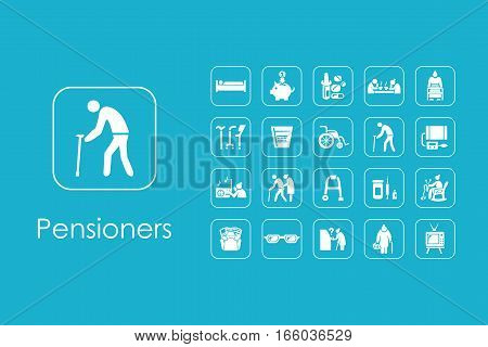 It is a set of pensioners simple web icons