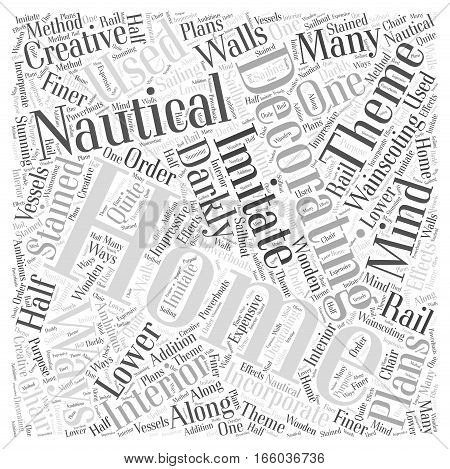 Home Decorating With a Nautical Theme Word Cloud Concept