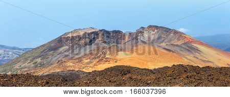 Panoramic View Of Pico Viejo, El Teide National Park, Tenerife, Canary Islands, Spain