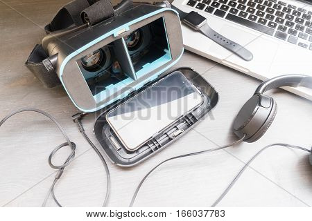 Virtual reality glasses - open one with phone inside