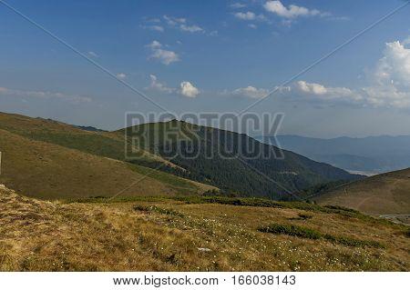 Mountain landscape at Central Balkan mountain, pass Beklemeto, Stara Planiana, Bulgaria