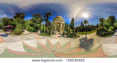 Beatiful view of arboretum and Nature (Dendrarium)