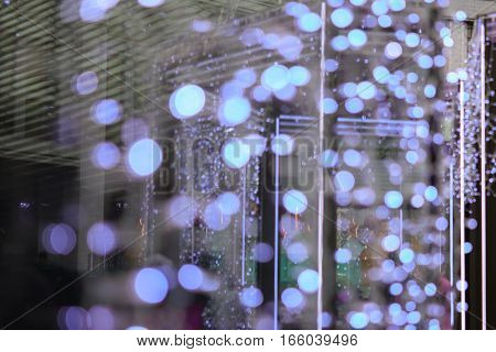 Beautiful Bokeh Background For Design. Christmas Fair