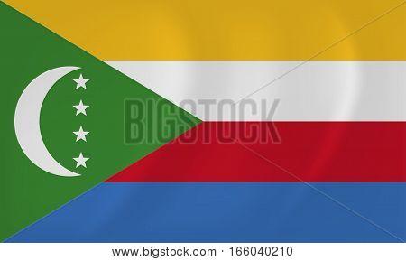 Comoros Waving Flag