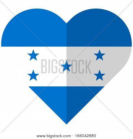 Honduras Flat Heart Flag