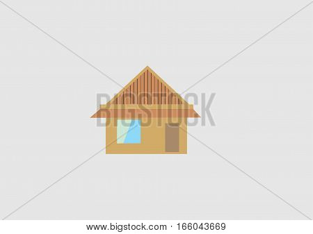 illustration of a home to use as an icon