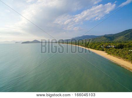 An aerial view of Palm Cove, Cairns, Queensland, Australia