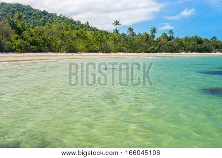 Myall Beach at Cape Tribulation in Tropical North Queensland, Australia