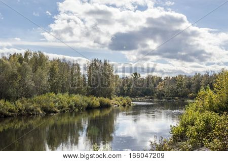 A reservoir of Agidel is in Bashkortostane. Beauty of native edge