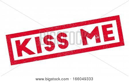 Kiss Me rubber stamp. Grunge design with dust scratches. Effects can be easily removed for a clean, crisp look. Color is easily changed.