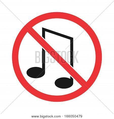 no music sign. silence symbol. vector & photo | bigstock