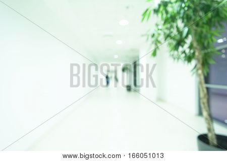 Abstract blur luxury hotel lobby interior for background Defocused Office Building Lobby or hospital Background
