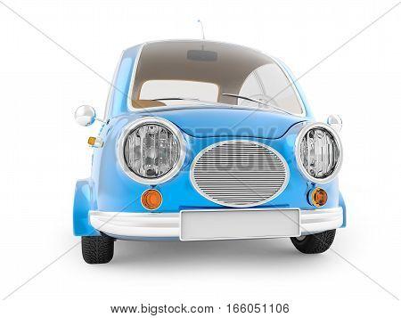 Round Small Car Blue