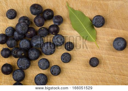 fresh Blueberry on on the wooden table