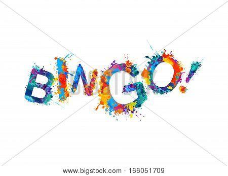 Bingo! Vector Splash Paint Inscription