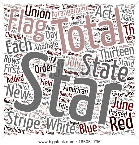 Hooray for Flag Day why do we celebrate it on June 14 text background wordcloud concept