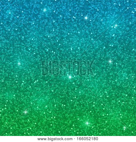Blue green glitter background. Shiny sparkles. Vector