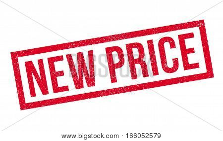 New Price rubber stamp. Grunge design with dust scratches. Effects can be easily removed for a clean, crisp look. Color is easily changed.