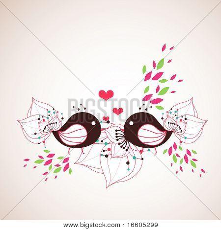 sweet little bird couple poster