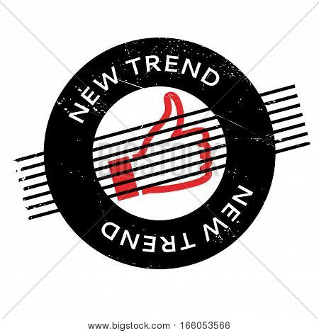 New Trend rubber stamp. Grunge design with dust scratches. Effects can be easily removed for a clean, crisp look. Color is easily changed.