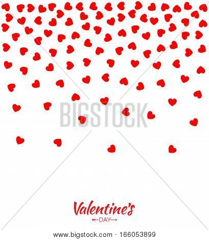 Abstract Red Hearts Gradient Background for Valentines Day Design Vector Illustration Card. Wedding Invitation Card backdrop. Design element of background for medical, health, treatment.