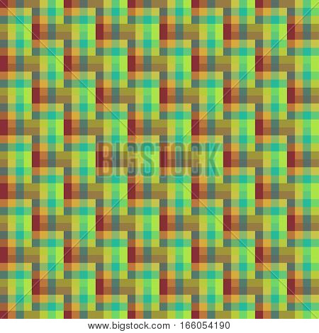 Geometric Seamless Pattern Of Square, Abstract Background, Optical Illusion. Checkered Design, Brigh