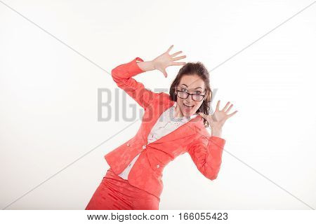 teacher surprised fingers business Secretary
