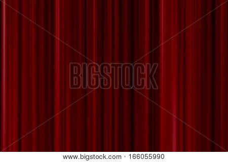Close Red Curtain