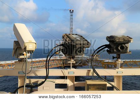 CCTV cameras installed in oil and gas plateform