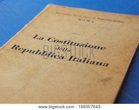Italian Constitution Book In Rome
