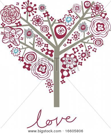 love shape valentine's card