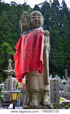 Buddha Statues At Okunoin Cemetery In Japan