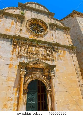 St. Saviour Church - a small votive renaissance church located in the old town of Dubrovnik, Croatia