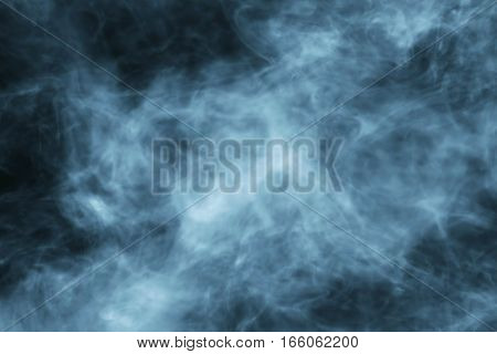 Smoke Slowly Floating Through Space