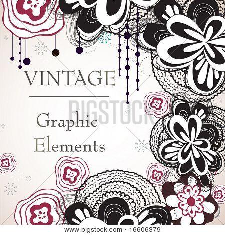 vintage floral background design