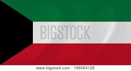 Kuwait Waving Flag