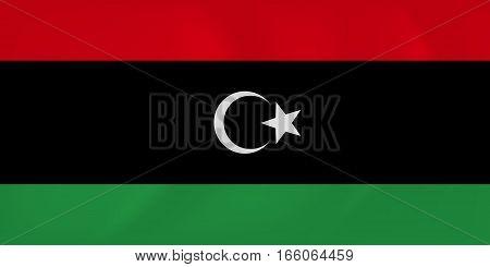 Libya Waving Flag