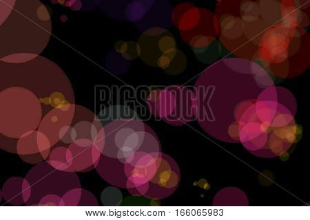 Christmas Red Sparkle Background With Colorful Bokeh, Xmas Holiday Happy New Year