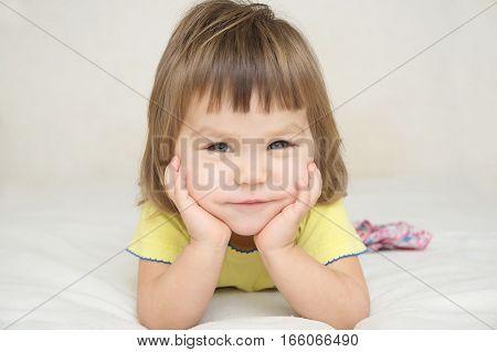 Smiling Happy Child Portrait, Happy Childhood Concept