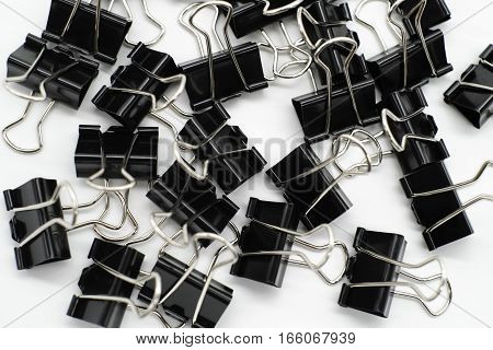 PaperClip on white background colour image photo