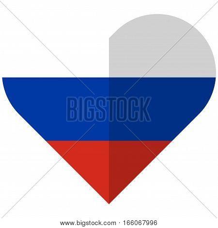 Rusia Flat Heart Flag