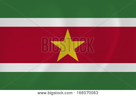 Surinam Waving Flag