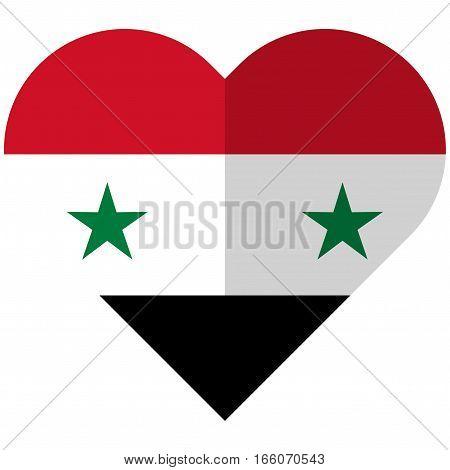 Syria Flat Heart Flag