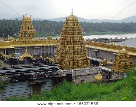 Murudeshawar temple : A Hindu pilgrimage located in Karnataka , India.