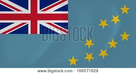 Tuvalu Waving Flag