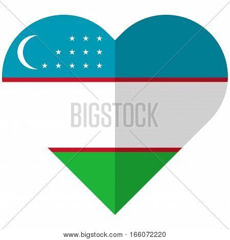 Uzbekistan Flat Heart Flag